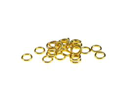 10 Jump Rings Gold Plated Closed Jump Ring 6mm