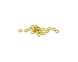 10 Jump Rings Gold Plated Closed Jump Ring 4mm