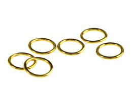 10 Jump Rings Gold Plated Closed Jump Rings 14mm