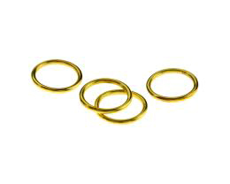 10 Jump Rings Gold Plated Closed Ring 16mm