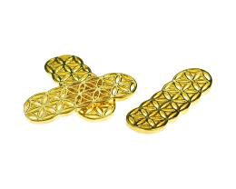 1 Bar Connectors Gold Plated Filigree Links 35mm