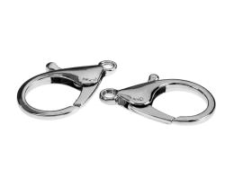 1 Lobster Clasps Silver Trigger Clasp Large 35mm