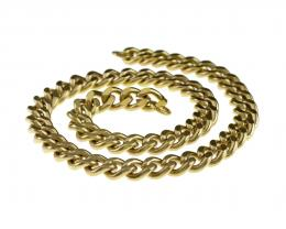 1 Vintage Necklace Chains Gold Plated Curb 39cm