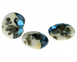 1 Handmade Lampwork Glass Beads Seashore Focals