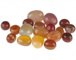 Carnelian Faceted Nugget 7mmx 9mm Semi-Precious Gemstones