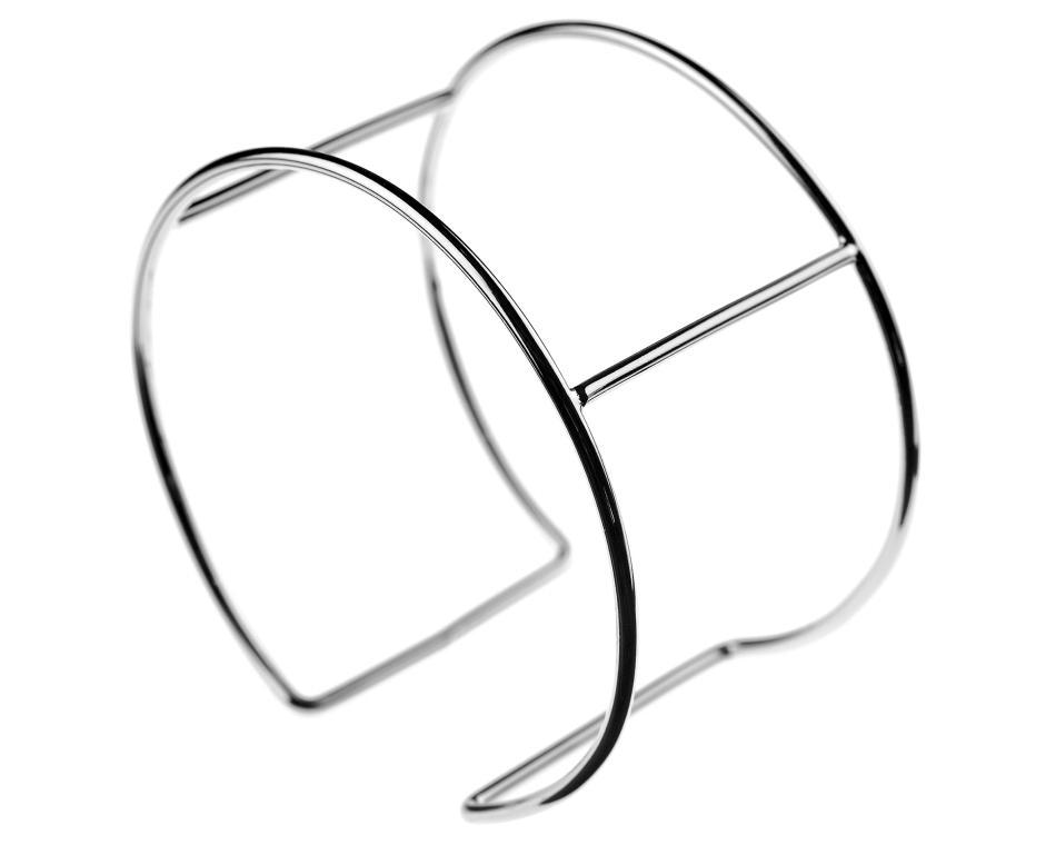 BIG BEAD LITTLE BEAD | 1 Cuff Bracelet Blanks Silver Plated Wire 70mm